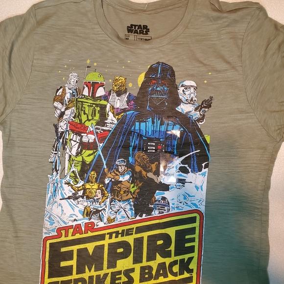 NWT Star Wars T Shirt Boys XL Luke Skywalker Darth Vader S//S Green Tee-Shirt